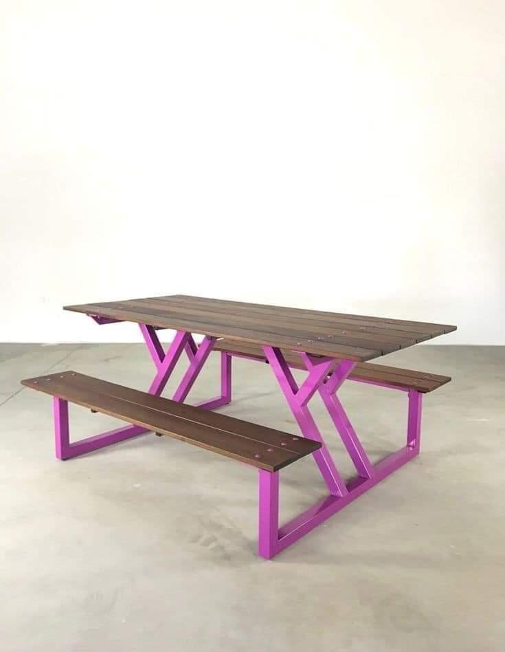 Уличный стол  в лофт стиле