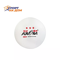 Мяч для настольного тенниса AURORA 40+ (цвет белый)