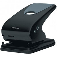 """Дырокол Berlingo """"Office Soft"""", до 65 листов, металлический корпус, черный"""