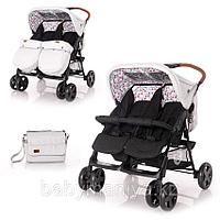 Прогулочная коляска для двойни Bertoni Twin Серо-черный / Grey&Black CROS 2087