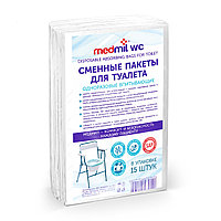 """Сменные пакеты для туалета """" Medmil WC"""" (впитывающие одноразовые) №15"""