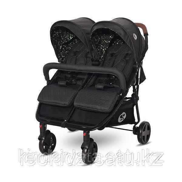 Прогулочная коляска для двойни Lorelli Duo   Черный / Black CIRCLES 2053