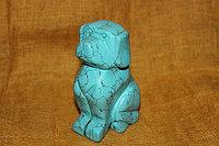 Сувенир собака из бирюзы