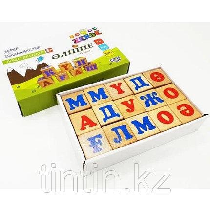 Деревянные кубики с буквами казахского алфавита, фото 2