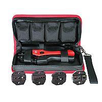 Кримпер для опрессовки наконечников с набором из четырех матриц в тканевой сумке СТК+4