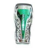 Щитки футбольные Zez Sport 624 Silver/Green р-р S
