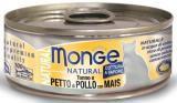 Monge Natural 80г тунец и курица с кукурузой Влажный корм для кошек
