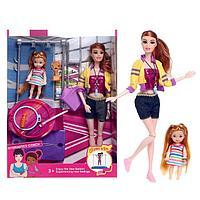 Кукла-модель шарнирная «Спортсменка» с малышкой, с аксессуарами, МИКС