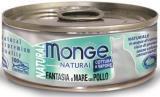 Monge Natural 80г тунец и курица с морепродуктами Влажный корм для кошек