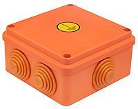 GUSI Коробка Уравнивания потенциалов 100х100х55, IP54, ОП, оранжевый, Негорючая, ПВ-0