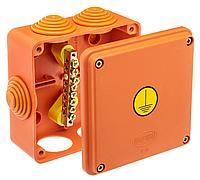 GUSI Коробка Уравнивания потенциалов 100×100×50, крышка на винтах, IP55, ОП, оранжевый, Негорючая, ПВ-0