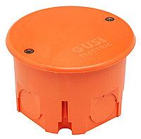 GUSI Коробка распред. круглая 68х45, для сплошных стен, IP30, СП, оранжевый, Негорючая, ПВ-0