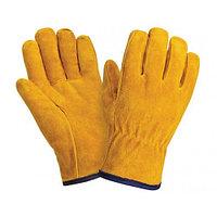 Перчатки желтые цельноспилковые короткие (2202)б 1/120