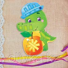 Вышивка лентами «Весёлый крокодил» для самых маленьких. Набор для творчества
