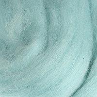 Шерсть для валяния 100% полутонкая шерсть 50гр (222 голуб. Бирюза)