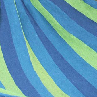 Гамак подвесной складной с деревянными планками 205х150 см в синих оттенках - фото 7