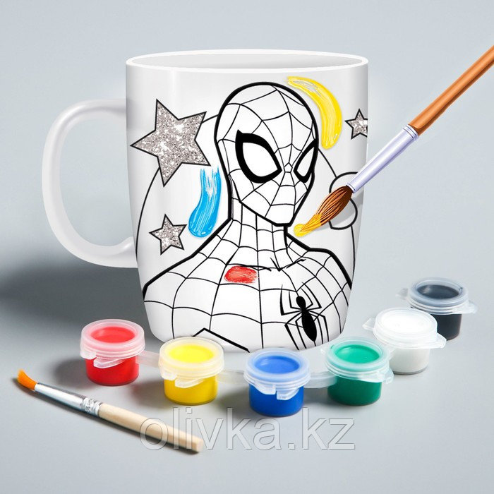 Кружка под роспись «Spider-Man» , Человек-Паук, 250 мл - фото 1
