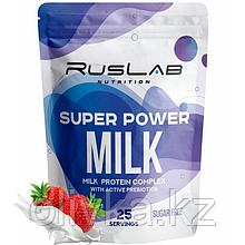 Протеин RusLabNutrition Super Power Milk Клубника со сливками, 800 г