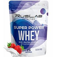 Протеин RusLabNutrition Super Power Whey Клубника со сливками, 800 г
