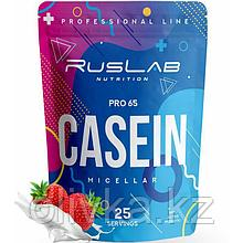 Протеин RusLabNutrition Casein Pro 65 Клубника со сливками, 800 г