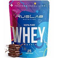Протеин RusLabNutrition Whey 100 % pure Шоколад, 800 г