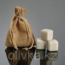 Набор камней для виски, 3 шт, 2х2х2 см, мрамор