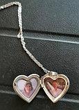 """Медальон на цепочке """"Мое сердце"""" серебрение, фото 5"""