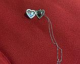 """Медальон на цепочке """"Мое сердце"""" серебрение, фото 4"""
