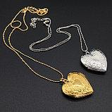 """Медальон на цепочке """"Мое сердце"""" серебрение, фото 6"""