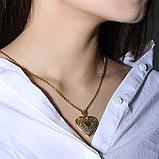 """Медальон на цепочке """"Мое сердце"""" серебрение, фото 7"""