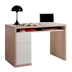 Офисный стол с выдвижными ящиками и полкой