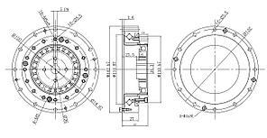 Редуктор волновой LHS-32 100:1 безлюфтовый