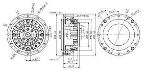 Редуктор волновой LHS-17 50:1 безлюфтовый