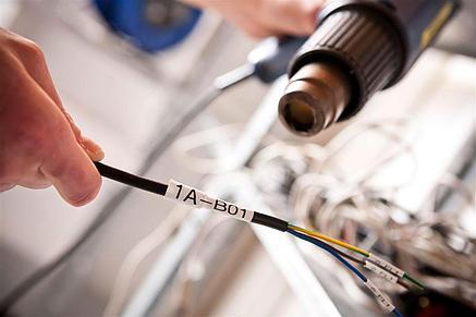 Картридж для Epson LW-400, термоусадочная трубка  (7 мм x 2,5м,  черный на желтом) BLK-4YBA7/BU7Y, фото 2
