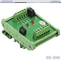 Конвертер STEP/DIR в квадратурный сигнал, на DIN-рейку