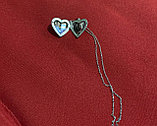 "Медальон на цепочке ""Сердечко классика"" серебрение, фото 4"