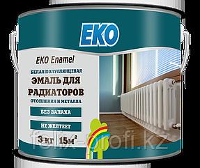EKO ENAMEL, эмаль для метала и радиаторов отопления  (ПОЛУГЛЯНЦЕВАЯ) 3 кг.