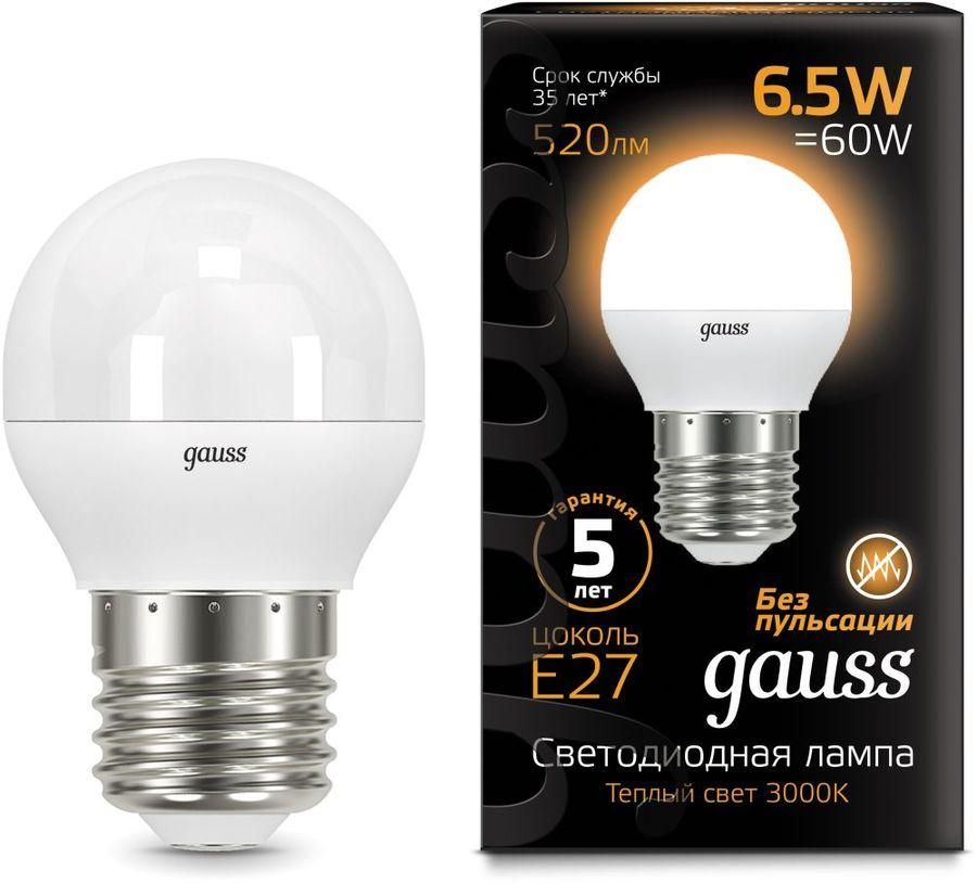 105102107 Лампа Gauss Globe 6.5W 2700K E27