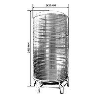 Емкость для воды 4 куба ( 4000л ) 2960 х 1420 мм