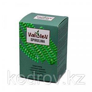 ValulaV Spirulina (биорегулятор клеточного деления, клеточного гомеостаза) капсулы №60*500мг.