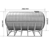 Емкость для воды 6 кубов горизонтальная 2900 х 1960