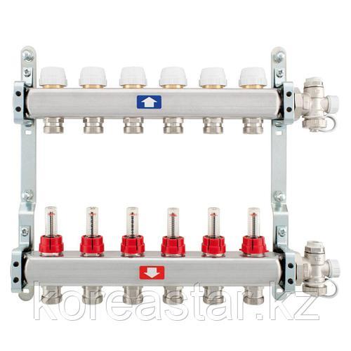 Комплект коллекторов с расходомерами ITAP 7 контура