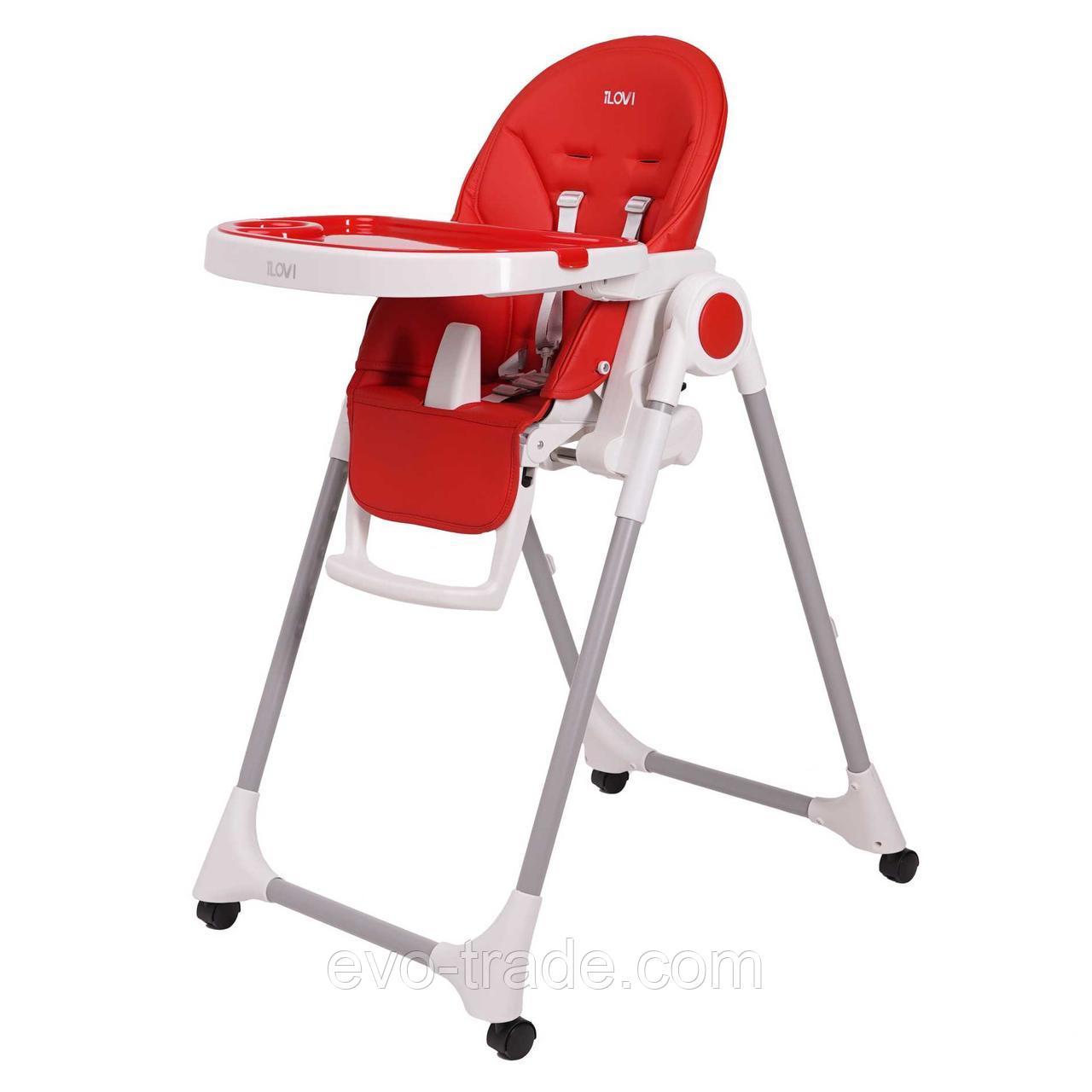 Стульчик для кормления iLovi Light с колесами Red