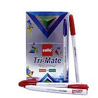 """Ручка шариковая CELLO """"TRI-Mate"""" 1 мм, красная"""