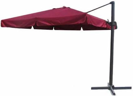 Зонт квадратный ART.Home Wood W-Lux (bordo), 3*3м, бордовый (с 4-мя утяжелителями)