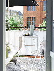 TORPARÖ ТОРПАРЁ Стол балконный, белый50 см, фото 3