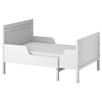 Раздвижная кровать с реечным дном, СУНДВИК, серый 80x200 см ИКЕА, IKEA
