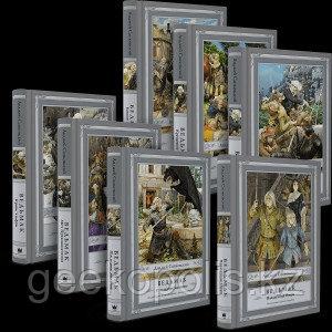 """Комплект из семи книг """"Ведьмак"""" с иллюстрациями, Анджей Сапковский, Твердый переплет"""