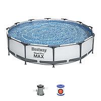 Каркасный бассейн Bestawy 305х76 см c фильтр насосом