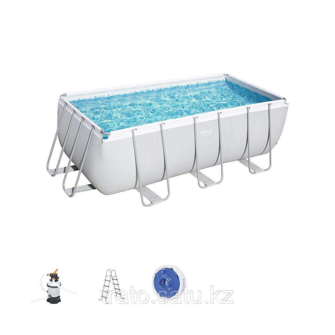 Каркасный бассейн Bestway 412х201х122 см с песочным фильтром